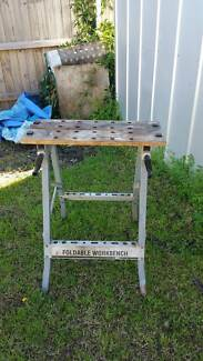 Workbench vice Foldable Adjustable Saw Horse Trestle work bench
