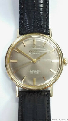 Omega Seamaster DeVille Gold Over Steel Original Tropical Dial Automatic Watch
