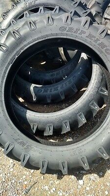 Two John Deere H 9.5x32 Grip King 8 Ply Tube Type Rear Tractor Tires