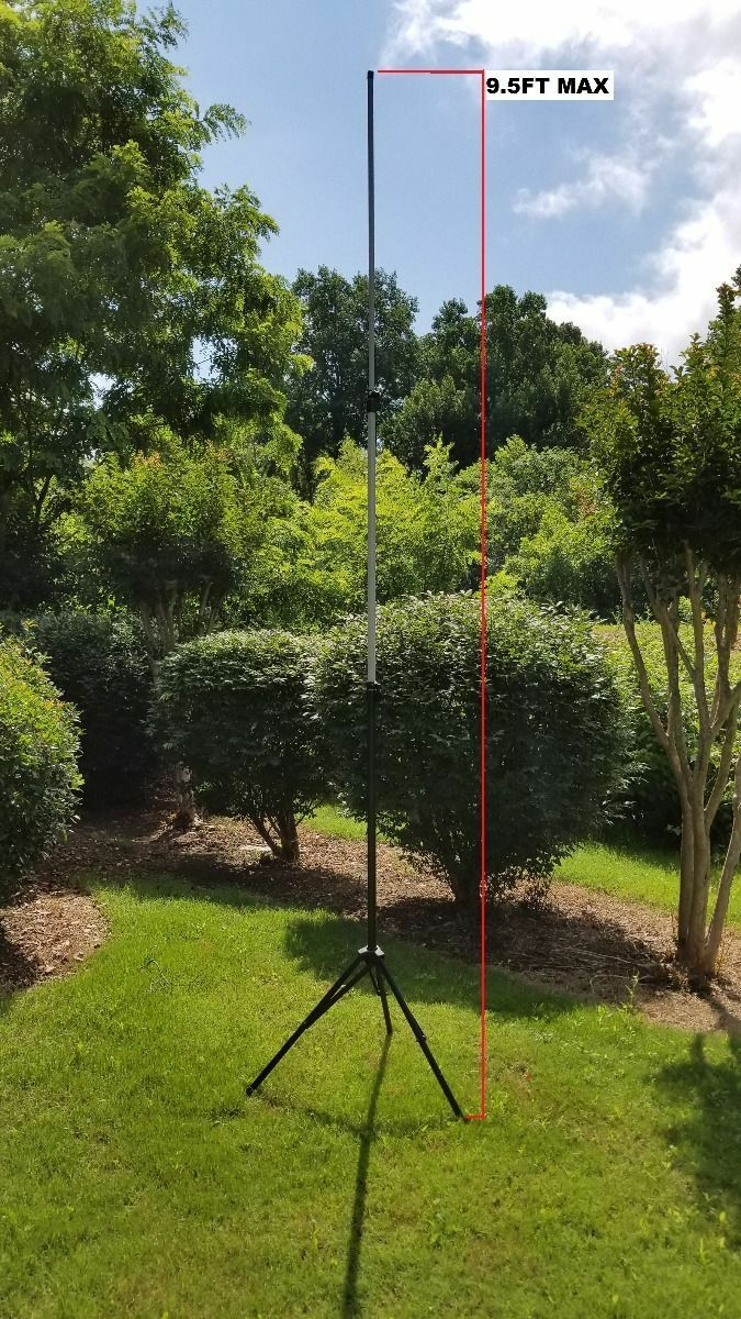 Details about MFJ-1918EX Portable Antenna Tripod with 9 5' Telescoping Mast