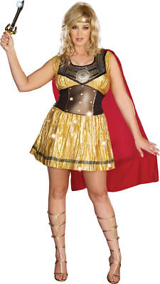 Morris Costumes Women's New Historic Roman Gladiator Costume Golden XL. RL8123XL