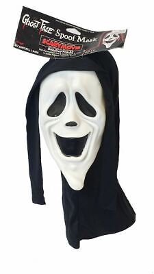 Adults Smiley Face Scream Scary Spoof Movie Licenced Halloween Fancy Dress (Smiley Scary Maske)