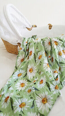 daisy baby muslin receiving blanket 47x47 inches