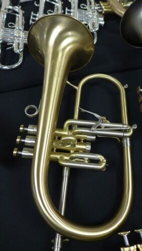 New Selected Adams F2 Flugelhorn in Brushed Lacquer with Gold Brass Bell!