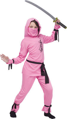 Morris Costumes Childrens Girls Ninja Complete Outfit Pink 4-6. FW8708PKSM](Ninja Girl Outfit)