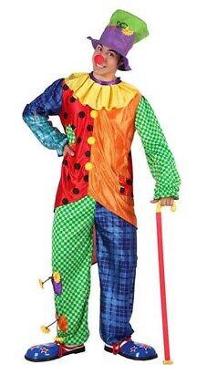Faschingskostüm Clown Kostüm Narr Herrenkostüm Gr. M L - Herren Clown Kostüm
