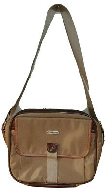 Samsonite Shoulder  Messenger Bag Gold Canvas / Leather