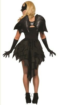 Black Bat Wings Adult Halloween Costume Accessory Dark Angel Demon Vampire Devil (Dark Angel Halloween Costume Accessories)