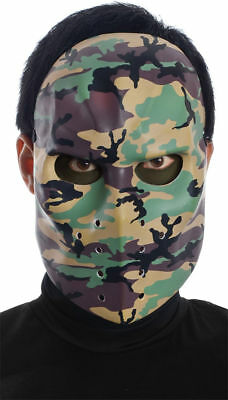 Morris Costumes Camo Printed Horror Halloween Scary Hockey Mask. MR131129 (Scary Hockey Mask)