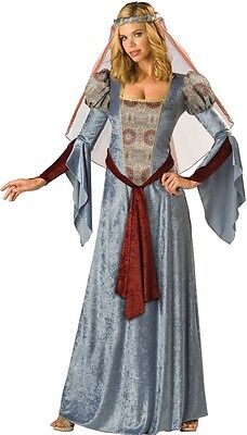 Ladies Long Blue Medieval Maid Marian Renaissance Fancy Dress Costume Outfit](Maid Marian Outfit)