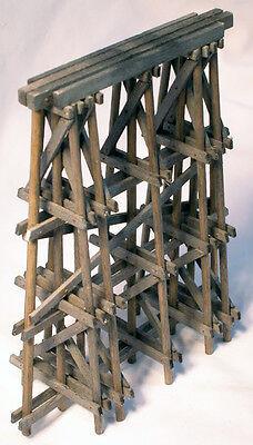 Pile Timber Bridge Pier Ho Model Railroad Structure Wood Kit Hl108h