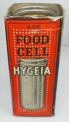 RARE 1916 HYGEIA 8 OZ FOOD CELL BABY BOTTLE WITH ORIGINAL BOX   A3