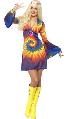 18.3ms-21.3ms Groovy Mehrfarbig Batik Minikleid Go Go Disko Tanz Party - Groovy Disko Kostüm