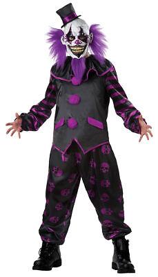 Morris Costumes Men's Clown Polyester Complete Outfit Black Purple L. MR148461