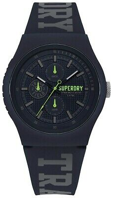 Superdry Men's Analogue Quartz Watch with Navy Silicone Strap SYG188UU