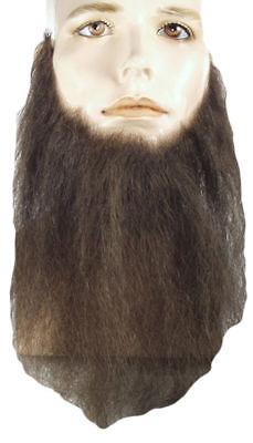 Morris Costumes Men's Full Face Hu Light Chestnut 8 Beard Brown. (Full Face Beard)