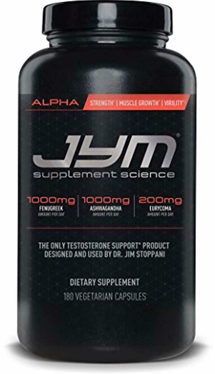 JYM Supplement Science, ALPHA JYM, Testosterone Booster with