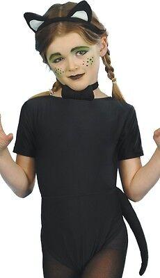 Mädchen Jungen Halloween Witchs schwarze Katze Buch Tag Kostüm (Junge Katze Kostüme)