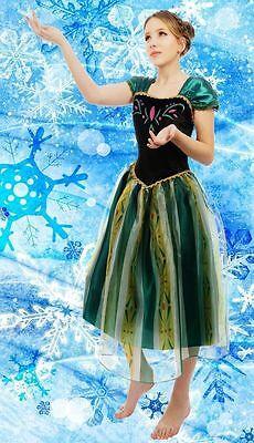 Erwachsene Damen Frozen Königin Anna Kostüm Cosplay Partei Ballkleid Outfit