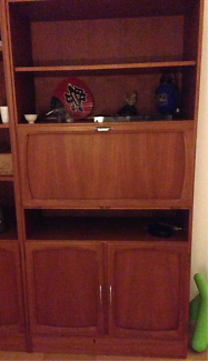 WALL UNIT (TEAK LAMINATE) in good condition