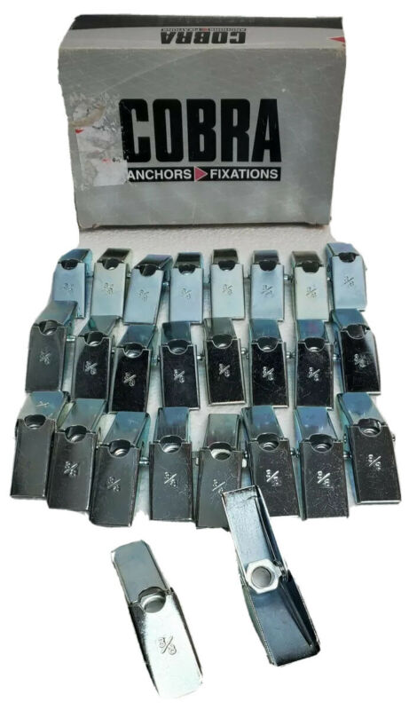 """Toggle Wing 3/8"""" Nut Wall Anchor Spring Loaded Expansion Bolt Head 26 Pieces"""