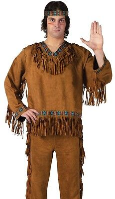 Native American Indian Costume Adult Brave Warrior Male Mens - Fast Ship - - Male Warrior Costume