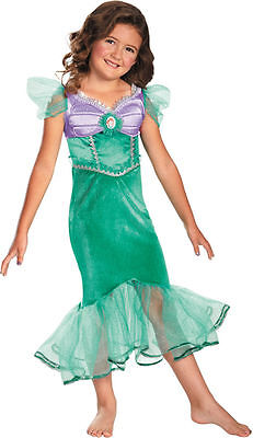 Ariel Costume for Girls New size 4-6X LIttle Mermaid by Disguise 59189](Mermaid Costumes For Little Girls)