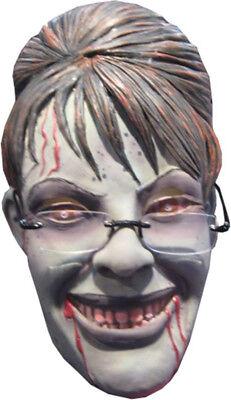Morris Costumes Women's Sarah Palin Rogue Zombie Mask With Glasses. RUM36755 (Sarah Palin Halloween)