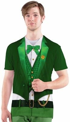 Kostüme Adult T Shirt Tee (Lucky Leprechaun T-Shirt St. Patrick Patricks Day Irish Costume Adult Funny Tee)