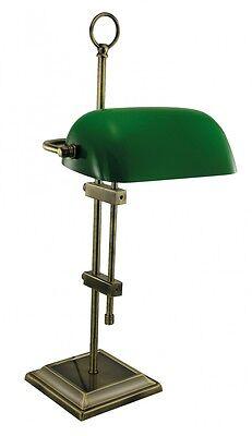 Bankerlampe - Messing, antik & Glas grün