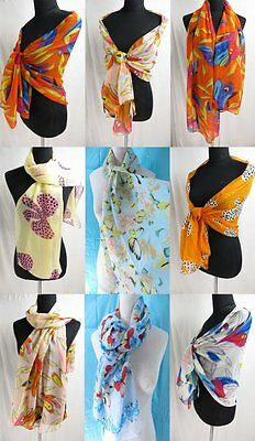 *US Seller* lot of 5 Wholesale Fashion Scarves chiffon scarf wrap shawl