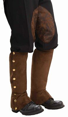 Steampunk Brown Boot Shoe Covers Spats Adult Costume Accessory](Steampunk Shoe Covers)