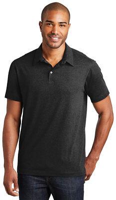 Port Authority Mens Short Sleeve 3 Button Meridian Cotton Blend Polo Shirt. K577