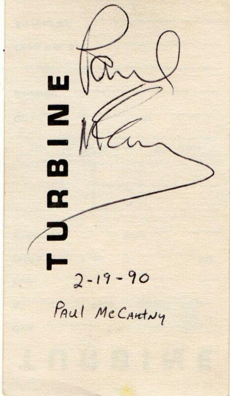 Paul McCartney Signed Autographed Cut Autograph The Beatles Beckett LOA