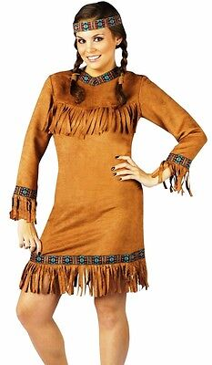 Native American Indian Princess Costume Dress Sexy Adult Pocahontas - Plus Size - Plus Size Pocahontas Costume