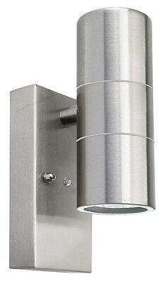Dusk Till Dawn Sensor Outdoor Up Down Wall Light Stainless Steel Finish ZLC0203D