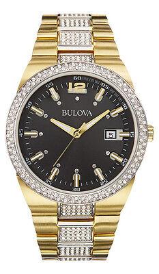 Bulova Men's 98B235 Crystal Analog Display Japanese Quartz Two Tone Watch