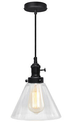 Modern Vintage Industrial Retro Glass Ceiling Lamp Shade Pendant Light M0126