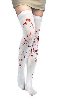 Halloween Horror Zombie Cosplay Kostüm blutige halterlose Strümpfe Damen