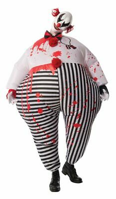 Rubies Inflatable Evil Scary Bloody Clown Adult Unisex Halloween Costume 810509](Mens Evil Clown Halloween Costumes)