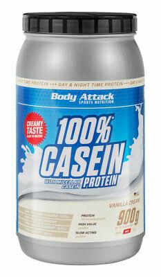 Body Attack 100% Casein Protein 900g Dose Aminosäuren Micellar Kasein