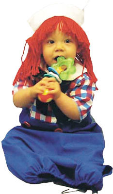 Morris Costumes Unisex Infant Raggedy Andy Bunting Costume 3-9 Months. 12119