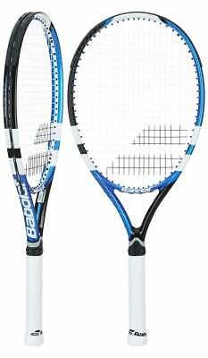 Babolat Drive Max 110 Strung Tennis Racket 117422 White Blue Black 4 3/8 Grip