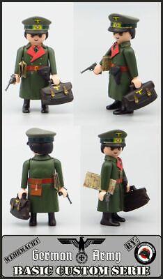 Playmobil Custom WW2 GENERAL Estado Mayor Ejército ALEMAN GUERRA MUNDIAL SOLDADO