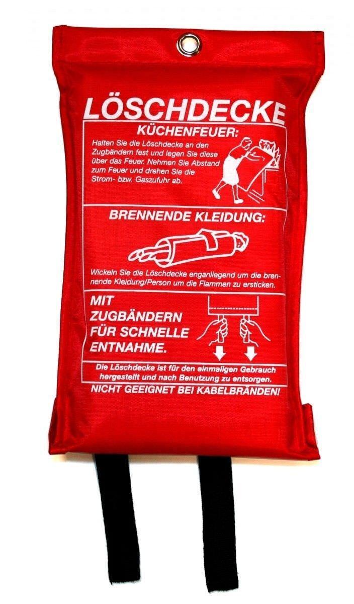 Löschdecke Feuerlöscher Feuerdecke Brandschutz Rettung Erste-Hilfe Fettbrand
