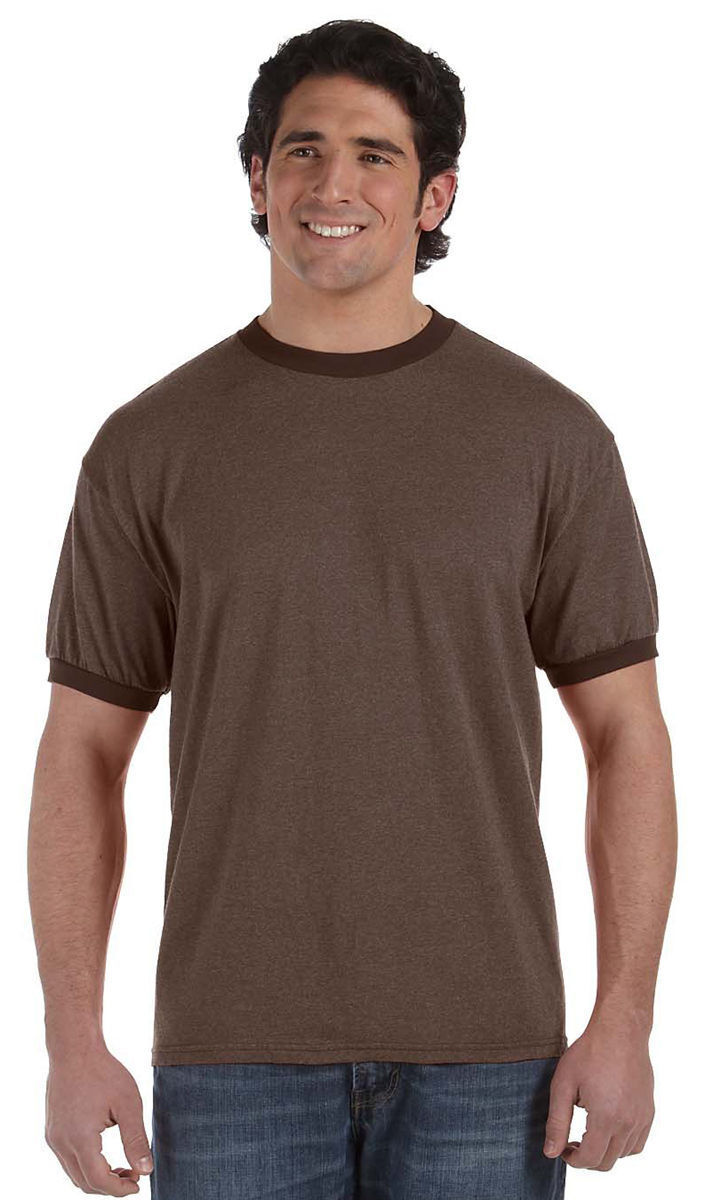 3eb0415880f5d3 Authentic Pigment Men s Ribbed Crewneck Short Sleeve Fashionable T-Shirt.  1937