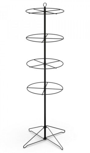 "Floor Display - 4 Tier 16"" Diameter Ring 100 Clips Inclued (Black)"