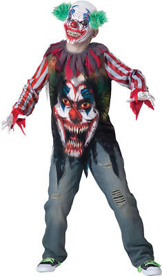 Morris Costumes Boys Clowns Big Top Terror Child Scary Costume 8-10. IC17045MD (Top Scary Halloween Costumes)