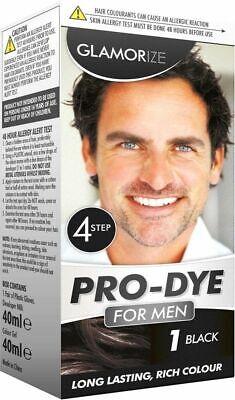 Glamorize creme colour permanent hair dye for Men - shade no 1 - black