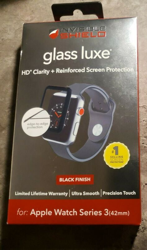 Apple Watch Series 3 42mm Glass Screen Protection - Black